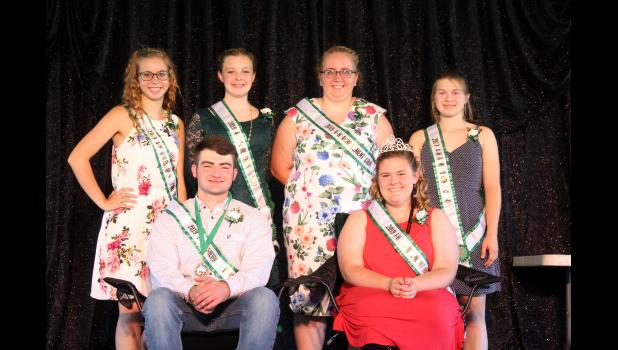 Ethan Shannon and Kirsten Calloway were named the  2019 4-H Royalty. The court includes Valerie Field, McKenzie Mitchell, Emily Field and Taylor Clark.