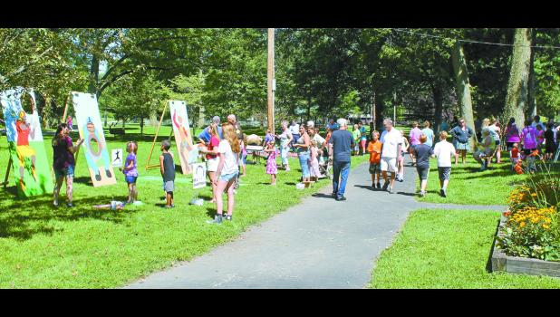 On July 25, possibly a record number of children attended the Kiwanis Kids' Day at the Winamac Town Park on July 25. Children had several games they could play and were served a small lunch. Kids' Day has been a Kiwanis tradition for more than 45 years.