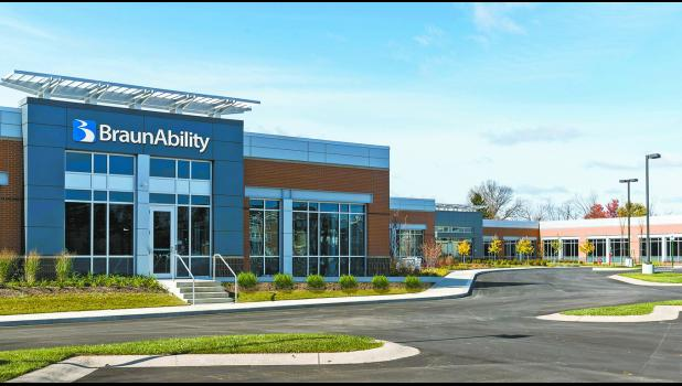 A rendering of BraunAbility's planned technology center in Carmel.