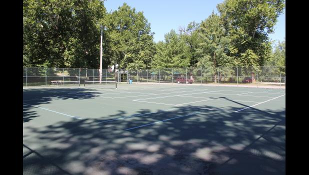 Several pickleball players attended the Winamac Parks and Recreation Board meeting on Sept. 3 to ask that the tennis court be turned into a permanent pickleball court.
