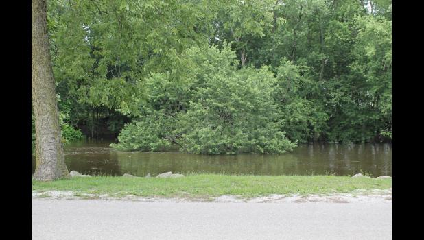 The Tippecanoe river was a little high after all of the rain during fair week, which was June 26-July 1.